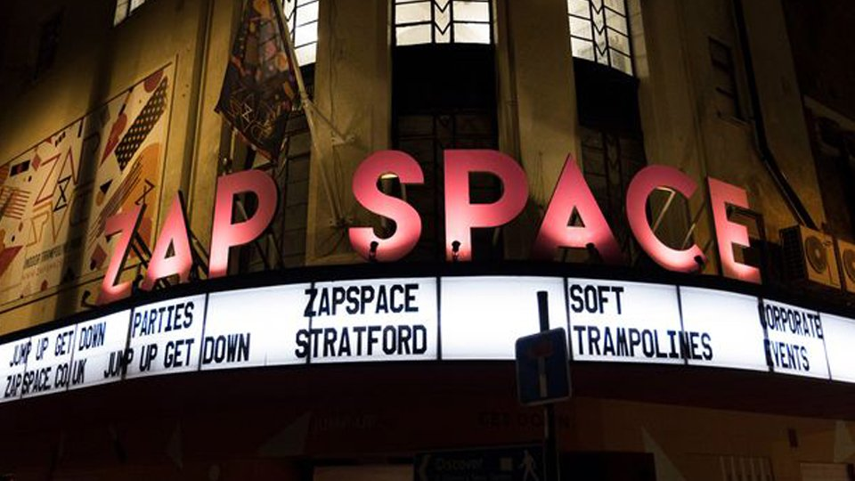 ZapSpace – Old theatre given a make-over with state of the art trampoline park