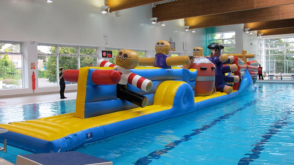 Aqua Runs Amp Wet Side Swimming Pool Inflatables Airspace