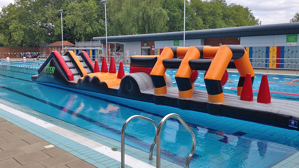 Wet Side Swimming Pool Inflatables Airspace Solutions