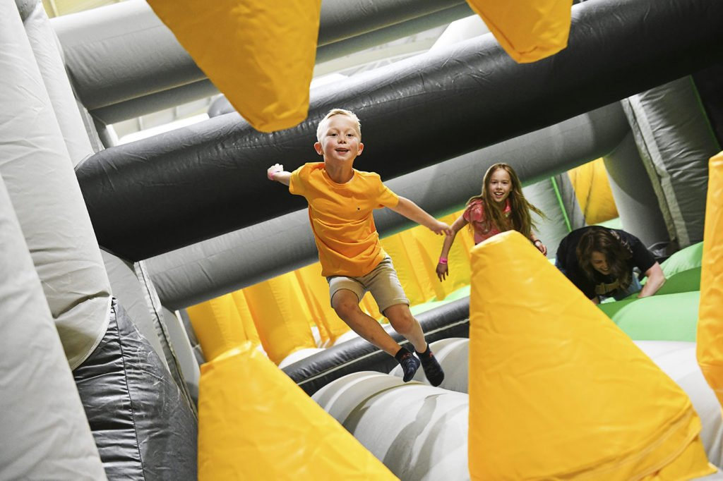 Air Mayhem, the new AirX inflatable theme park, now open