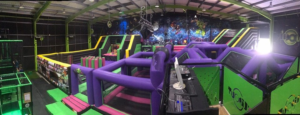 Flip Out in Bristol Relaunches with an AirX Inflatable Theme Park